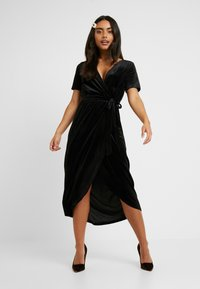Object Petite - OBJHONEY NOREENA DRESS - Maxi šaty - black - 2