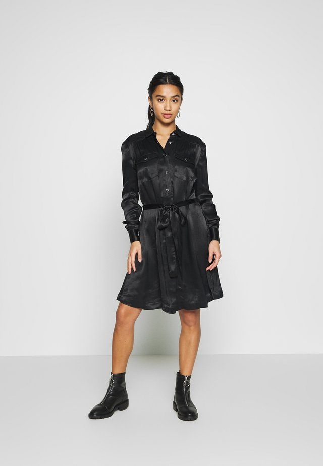 OBJMAXIME DRESS - Shirt dress - black