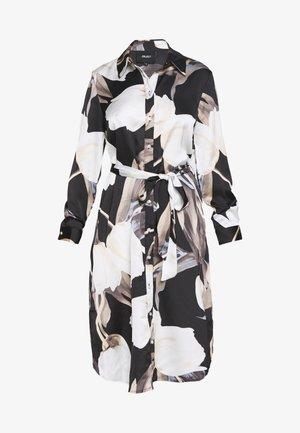 OBJPANIA AMELIA DRESS - Denní šaty - black/black
