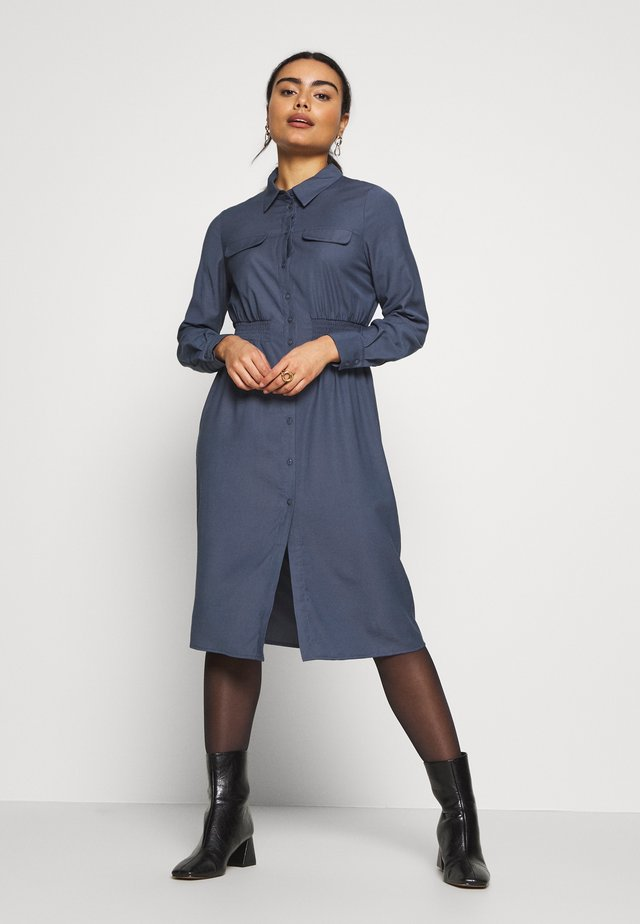 OBJJANEY DRESS - Shirt dress - sky captain