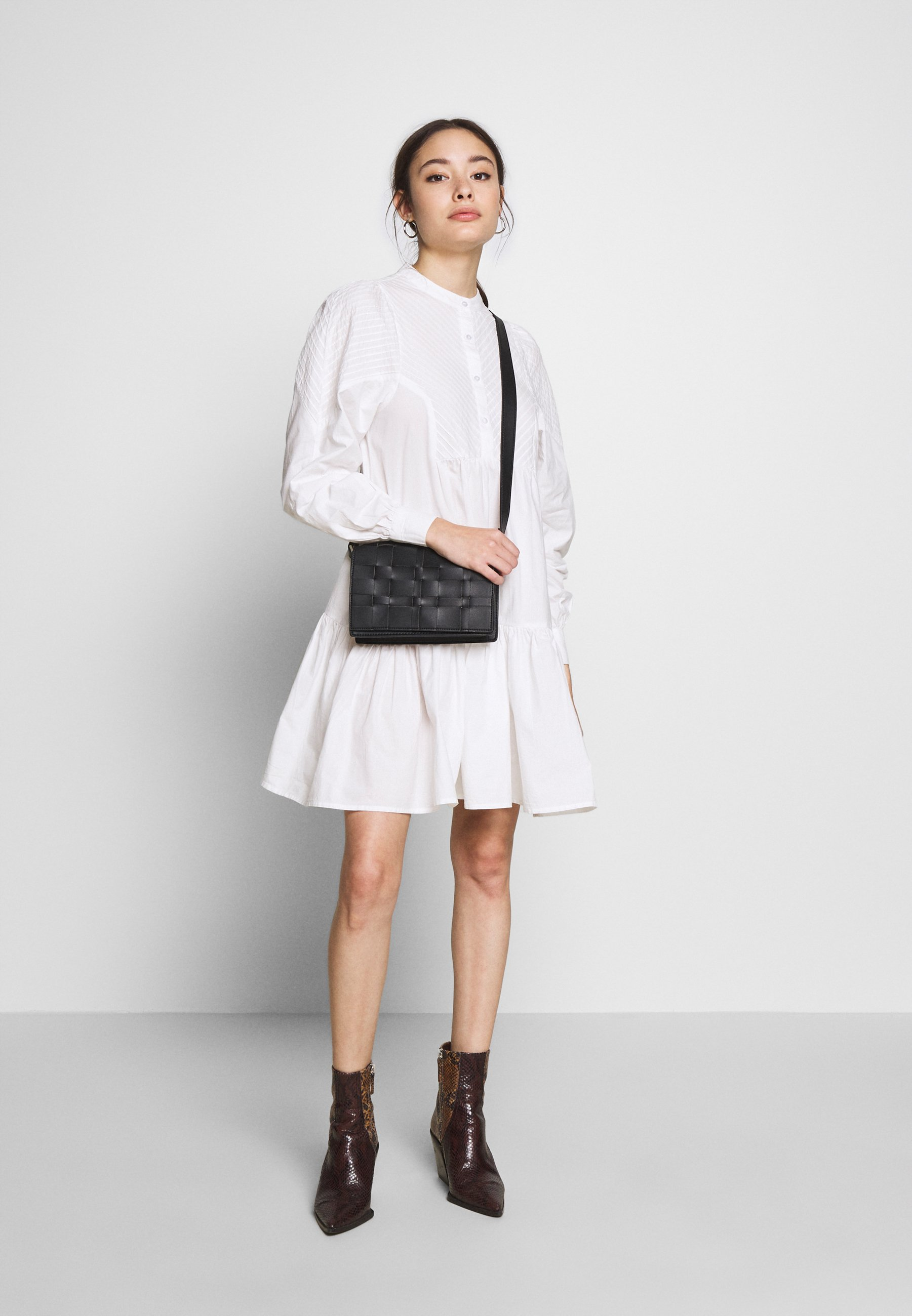 Object Petite Objalyssa Dress - Blousejurk White