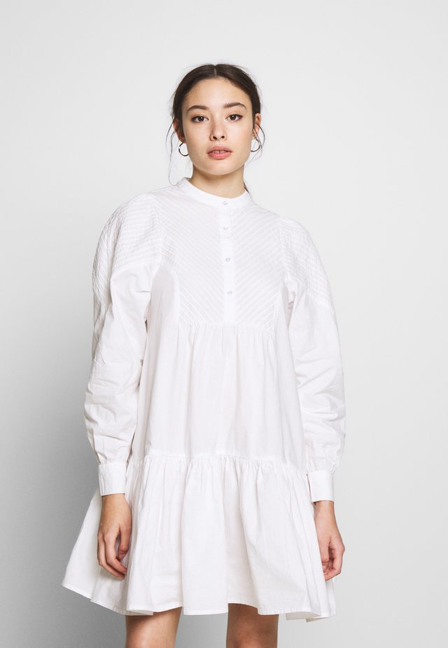 OBJALYSSA DRESS - Shirt dress - white