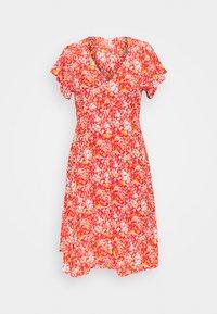 Object Petite - OBJBARB AYA SHORT DRESS - Vestido informal - poinciana - 0