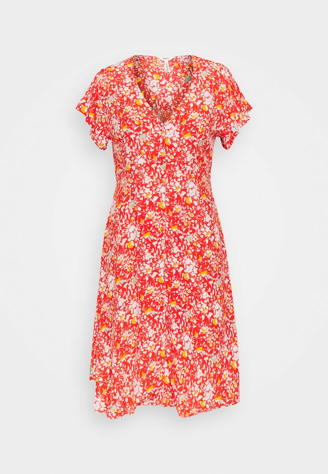 OBJBARB AYA SHORT DRESS - Korte jurk - poinciana