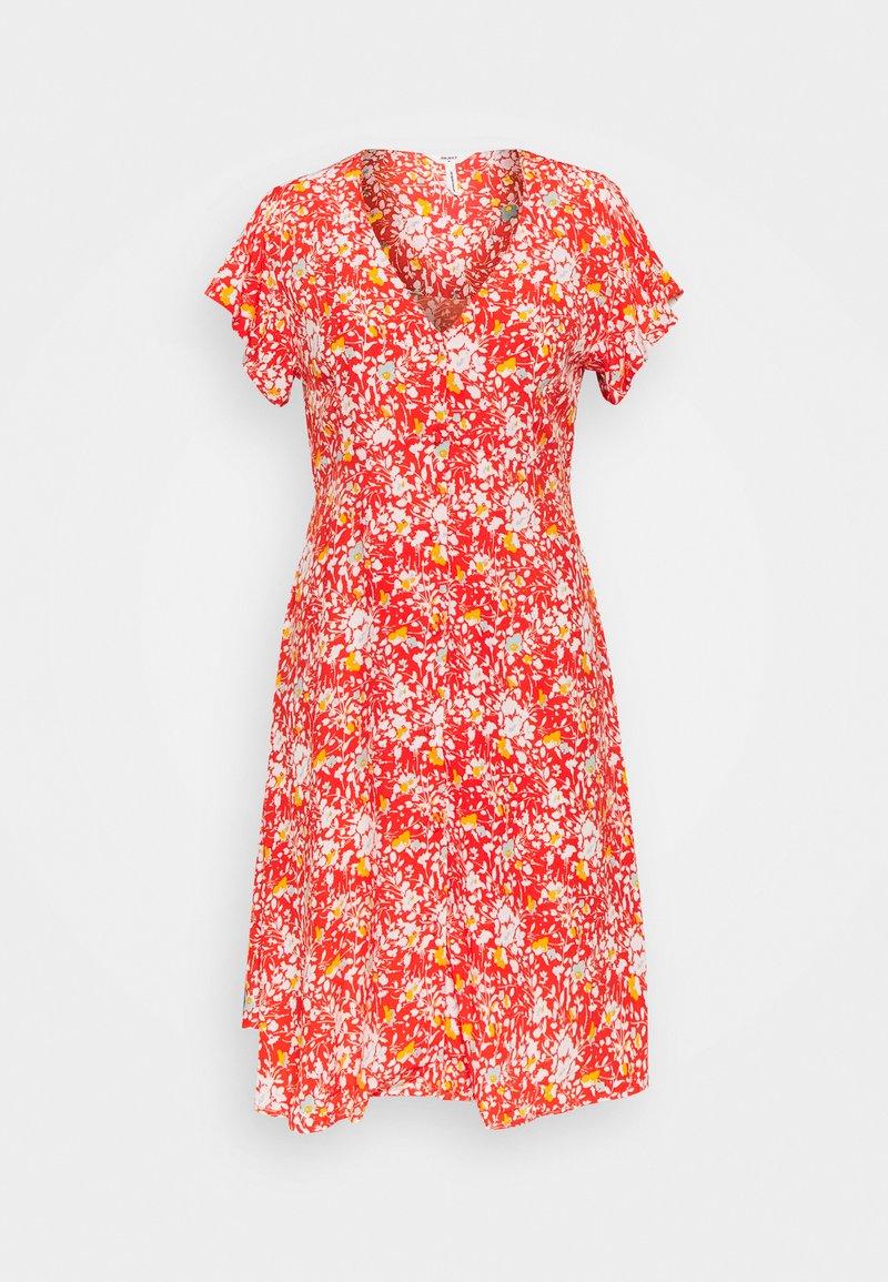 Object Petite - OBJBARB AYA SHORT DRESS - Vestido informal - poinciana