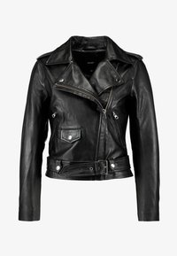 Object Petite - OBJNANDITA LEATHER JACKET - Skinnjacka - black - 3