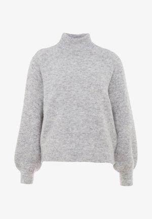 OBJNETE HIGHNECK - Jersey de punto - light grey melange