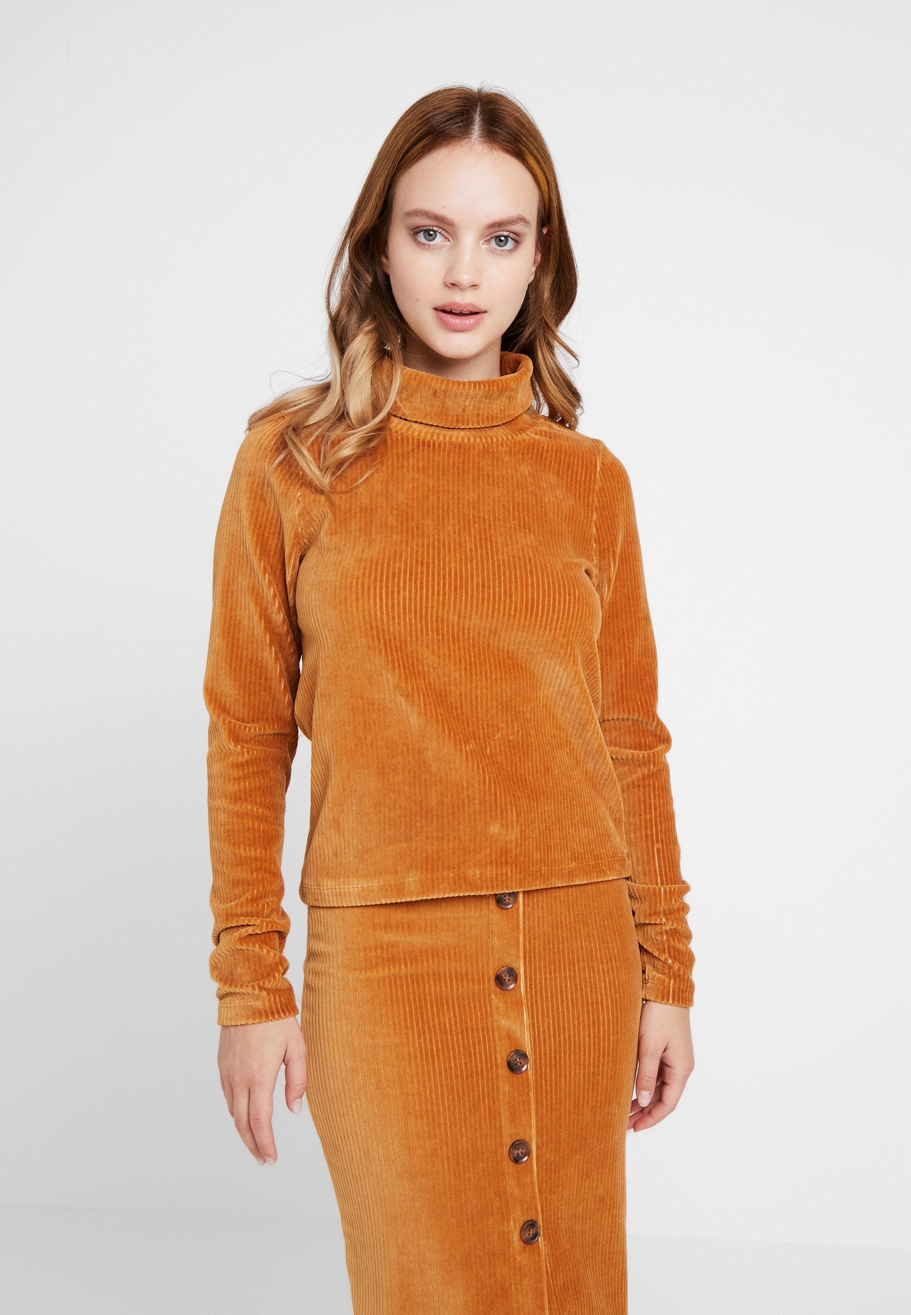 shirt Object Sugar Brown Manches Objcorda RollneckT Longues À Petite L4A3j5R