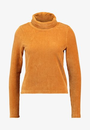 OBJCORDA ROLLNECK  - Long sleeved top - brown sugar