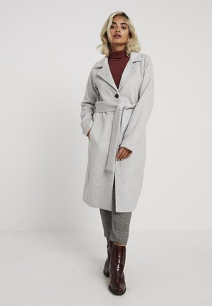 OBJLENA COAT - Villakangastakki - light grey melange