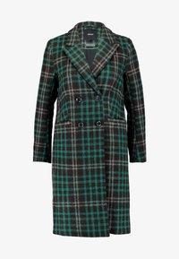 Object Petite - OBJLINA CHECK COAT - Zimní kabát - fern green/black/white - 4