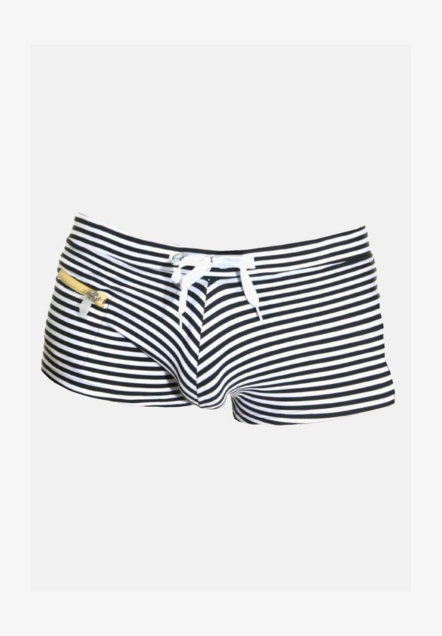 Swimming trunks - schwarz/weiss