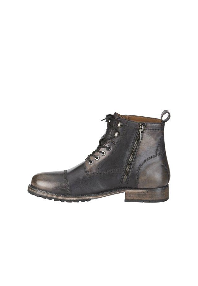 Lace-up ankle boots - schwarz vintage