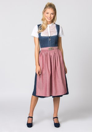 ROSELINE - Dirndl - blue/old pink