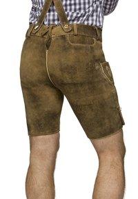 Stockerpoint - BEPPO  - Kožené kalhoty - havanna - 3