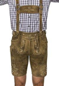 Stockerpoint - BEPPO  - Kožené kalhoty - havanna - 1