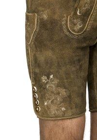 Stockerpoint - BEPPO  - Kožené kalhoty - havanna - 2