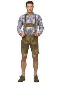 Stockerpoint - BEPPO  - Kožené kalhoty - havanna - 0