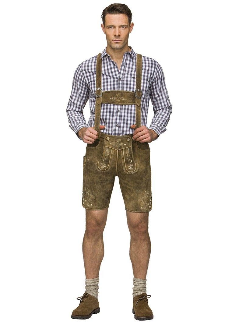 Stockerpoint - BEPPO  - Kožené kalhoty - havanna