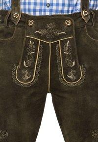 Stockerpoint - BEPPO  - Kožené kalhoty - bison - 1