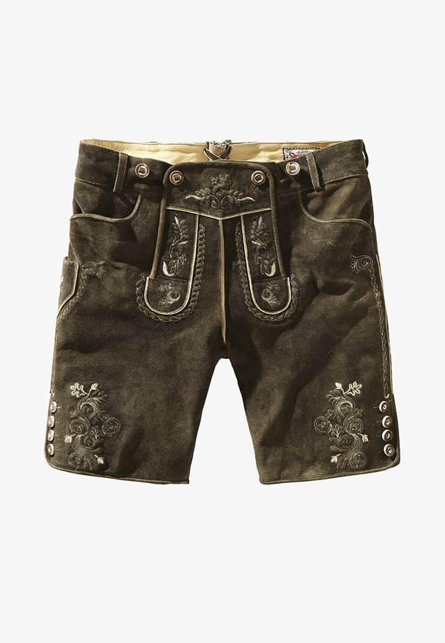BEPPO  - Leather trousers - bison