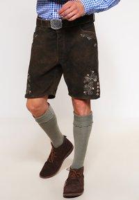 Stockerpoint - CORBI - Kožené kalhoty - bison - 0