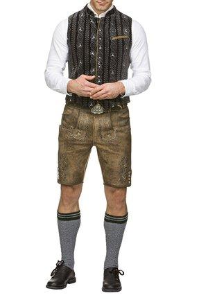THOMAS - Kožené kalhoty - stein