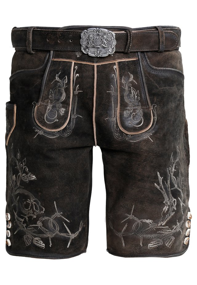 LAURENCE - Leather trousers - bison