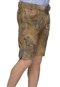 Stockerpoint - ARON - Kožené kalhoty - hanf gespeckt gelb - 3