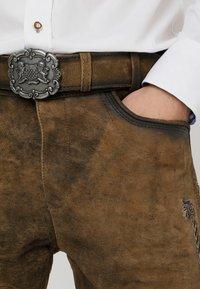 Stockerpoint - ALOIS - Kožené kalhoty - stein - 3