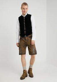 Stockerpoint - ALOIS - Kožené kalhoty - stein - 1
