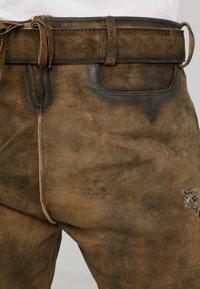 Stockerpoint - ALOIS - Kožené kalhoty - stein - 4