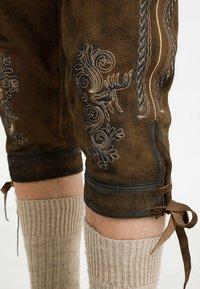 Stockerpoint - SIGGI - Kožené kalhoty - stein - 4