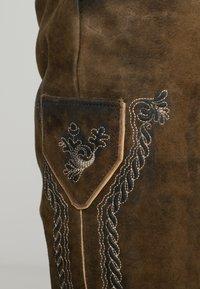 Stockerpoint - SIGGI - Kožené kalhoty - stein - 7