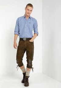 Stockerpoint - SIGGI - Kožené kalhoty - stein - 1