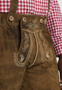 Stockerpoint - BEPPO BIG NEW - Kožené kalhoty - havanna - 7