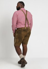 Stockerpoint - BEPPO BIG NEW - Kožené kalhoty - havanna - 2