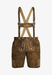 Stockerpoint - BEPPO BIG NEW - Kožené kalhoty - havanna - 6