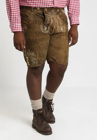 Stockerpoint - BEPPO BIG NEW - Kožené kalhoty - havanna - 3
