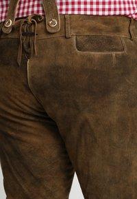 Stockerpoint - BEPPO BIG NEW - Kožené kalhoty - havanna - 5