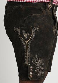 Stockerpoint - BEPPO BIG NEW - Kožené kalhoty - bison - 4
