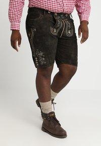 Stockerpoint - BEPPO BIG NEW - Kožené kalhoty - bison - 3