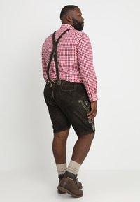 Stockerpoint - BEPPO BIG NEW - Kožené kalhoty - bison - 2