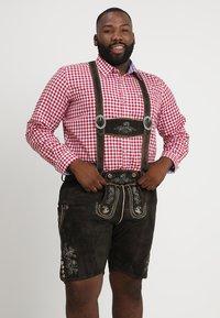 Stockerpoint - BEPPO BIG NEW - Kožené kalhoty - bison - 0