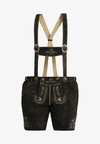 Stockerpoint - BEPPO BIG NEW - Kožené kalhoty - bison - 6