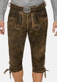 Stockerpoint - JOHANN - Kožené kalhoty - stein geäscht - 2