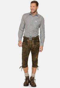 Stockerpoint - JOHANN - Kožené kalhoty - stein geäscht - 1