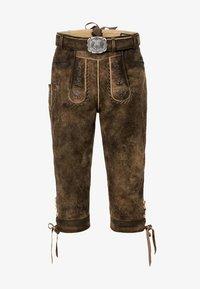 Stockerpoint - JOHANN - Kožené kalhoty - stein geäscht - 4