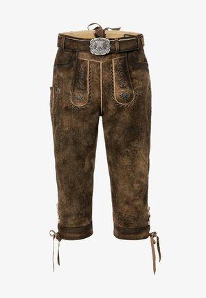 JOHANN - Kožené kalhoty - stein geäscht