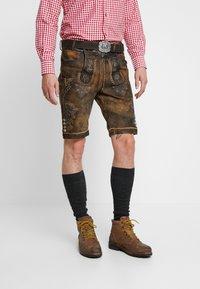 Stockerpoint - BRUCE - Kožené kalhoty - nuss gespeckt - 0